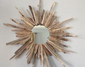 Driftwood wreath mirror