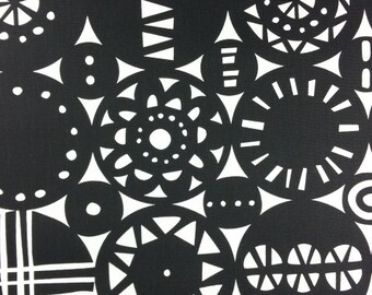 Retro fabric | Black fabric | Retro Christmas fabric | Curtain fabric | Tablecloth Fabric | Home Decor fabric