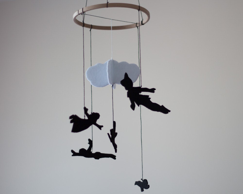Peter Pan Inspired Baby Room Decor Nursery Decor Felt