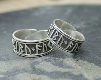 Viking Rune Ring in sterling silver