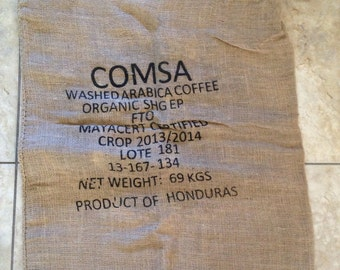 Produce of Honduras Burlap Coffee Sack