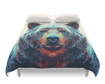 Bear Duvet Cover - Colorful Animals