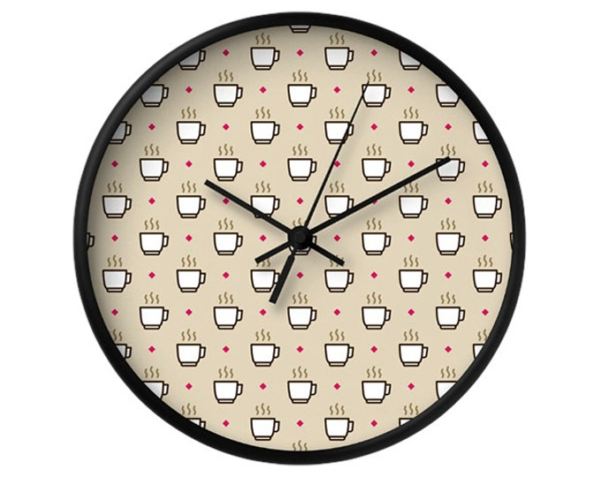 Coffee Wall Clock - Icon Prints: Drinks Series