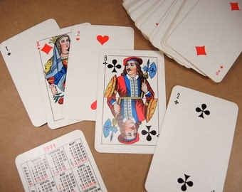 Vintage playing cards Retro playing cards