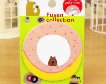 Cute Donut/Bear Sticky Note