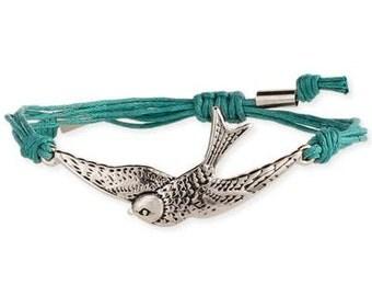 Soaring Bird Bracelet Blue