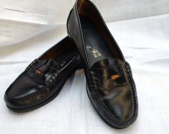Classic Penny Loafers in black leather size 5 1/2 (39)