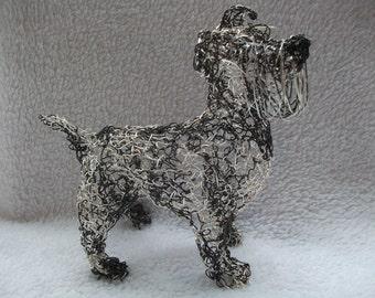 Shnauzer wire sculpture