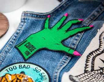 I Curse You Embroidered Iron-on Patch
