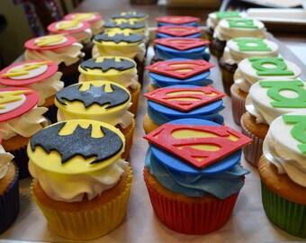3 Dozen Super Hero Fondant Toppers