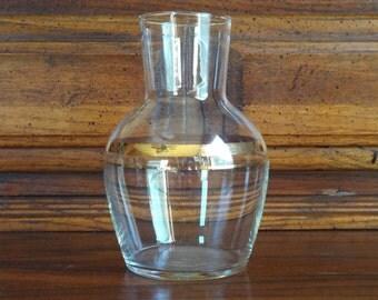 Vintage Glass Vase; Vintage Glass Carafe