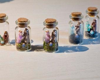 Miniature polymer clay Nativity scene