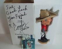 Horse Jockey Cowboy Jones Autographed Bobblehead