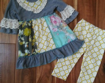 Adorable 2 piece boutique style outfit set! Sizes 12 month to 10/12.
