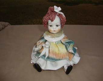 """Italian Clay Sculpture Artist Signed Baby Doll 6"""""""