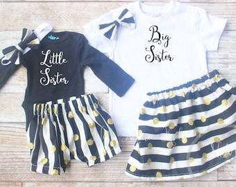 Sibling set, Little sister shirt, Big sister shirt, Sibling annoucement, Matching sibling set, sibling shirts, pregnancy annoucement