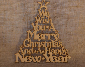 We wish you a Merry Christmas and a happy New Year Christmas tree