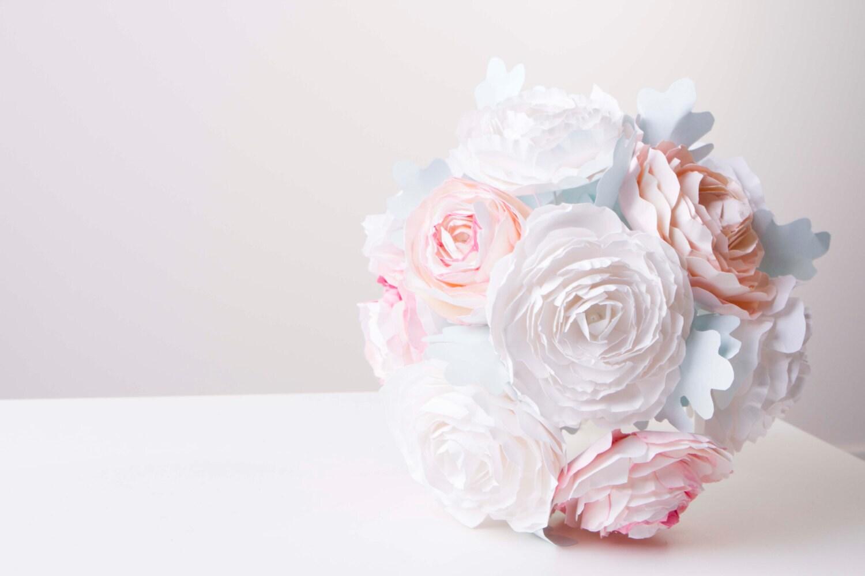 bouquet de fleurs de papier pivoine bouquet origami fleurs. Black Bedroom Furniture Sets. Home Design Ideas