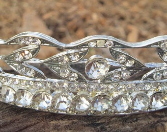 Dramatic Bridal headpiece, Wedding Tiara, Bridal headband, Rhinestone Bridal headband.