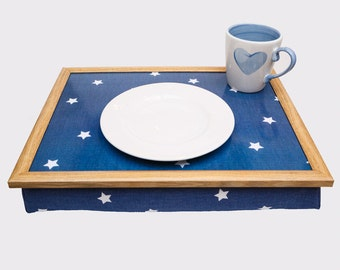 High Quality Dark Blue Stars Starry Bean Bag Beanbag Laptray Lap Tray Stable Table Bed Desk Serving Laptop