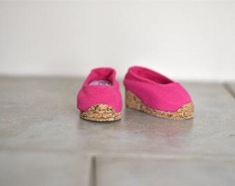 Cork Wedge Canvas Shoe