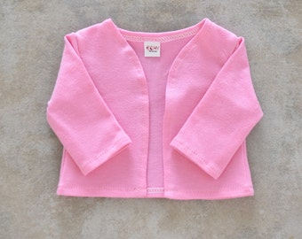 18 inch doll cardigan Light Pink  color