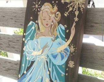 Angel Art on wood