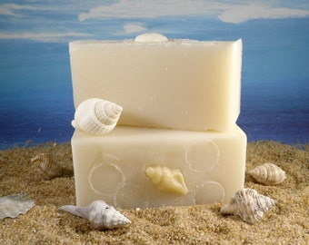 Coconut Oil Soap/ Natural Handmade Palm Free Soap, Essential Oils of Lavender and Rosemary, Suds in the Sea Soap