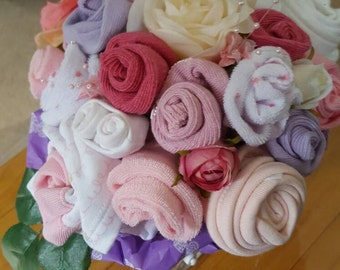 Stunning Baby Clothes Bouquet perfect for Baby Shower or New Baby Gift