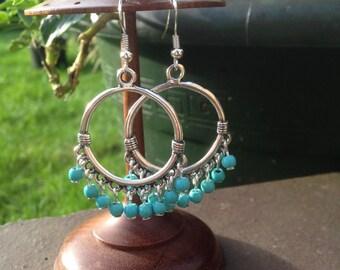 Bali earrings, Turquoise earrings, Turquoise Jewellery, Ethnic, Tribal, Hippie, Gypsy