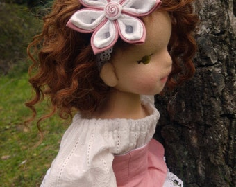Waldorf Doll - OOAK - Natural Fiber Art Doll - 16' Waldorf Inspired Doll