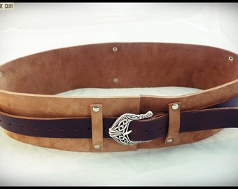 Belt 2 in 1 ! custom - vegetable tanned leather croupon