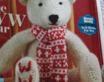 Traditional Teddy Bear & Winter Scarf knitting pattern