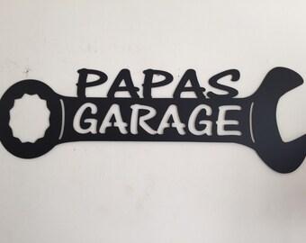 Papas Garage Sign