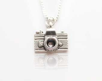 Sterling Silver Necklace, Photography Camera Charm, Camera Necklace, Photographer, Film Camera, Camera Pendant, Photography,Mothers Day Gift