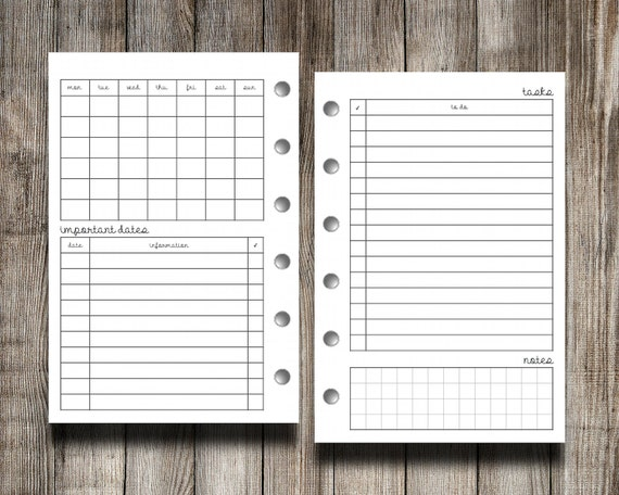 Calendar Monthly Overview : Pocket size monthly calendar overview with by peanutsplannerco