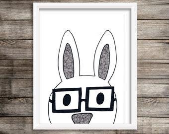 8x10 Nerdy Rabbitt