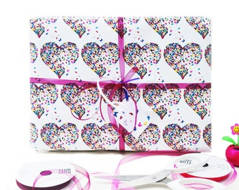 Butterfly Gift Wrap, Anniversary Gift Wrap, Heart Gift Wrap, Wedding Gift Wrap, Gift Wrap, Romantic Gift Wrap, Engagement Gift wrap,