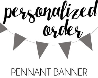 Personalized Pennant Banner