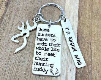 Hunting Gifts | Hunting Keychain | Browning Keychain | Hunting Buddy | Like Father Like Son | Gifts For Dad | Father Gift | Deer Hunting