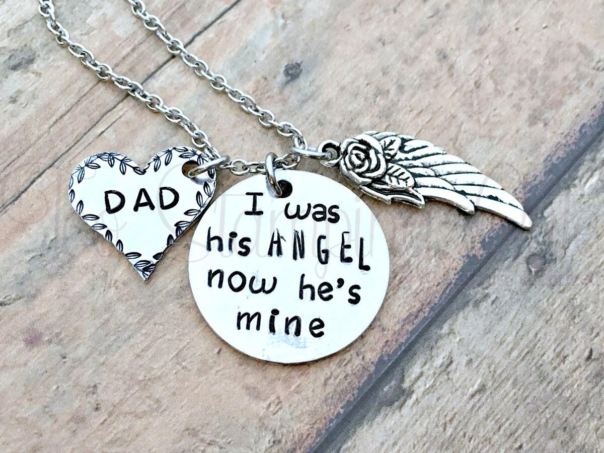 Angel Dad Memorial Jewelry Memorial Keepsake Loss Of Dad