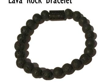 Lava Rock Bracelet