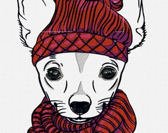 Applique Hipster Chihuahua
