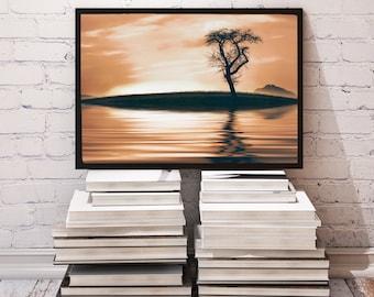 Romance poster Reflection decor Sunset print