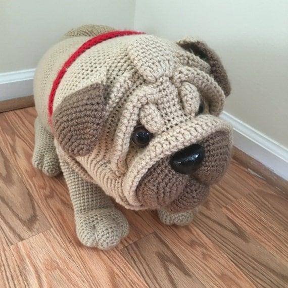 Free Crochet Pug Rug Pattern : Crochet Pug dog