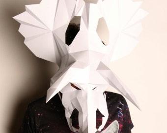 Paper Triceratops Skull
