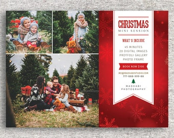Christmas Mini Session Template - Christmas Photography Marketing - Mini Session Template- Photoshop Template - INSTANT DOWNLOAD - MINI012