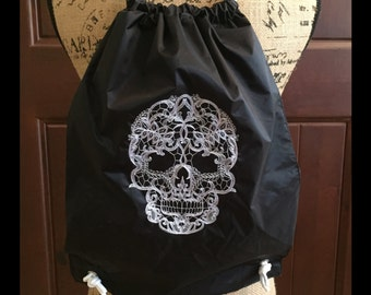 Drawstring Backpack - Sugar Skull Backpack