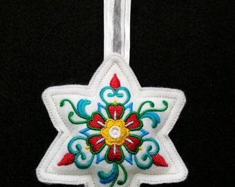 X005.  Star shape Felt Christmas tree ornament