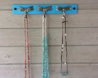 Necklace Holder with Dragonfly Hooks